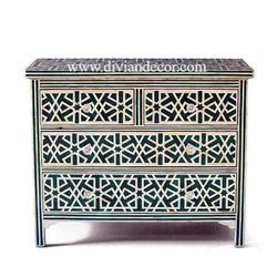 Aqua Harmony Mother of Pearl Chest of Drawers