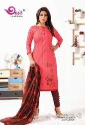 Devi Sophia Vol 3 Series 3001-3012 Printed Cambric Cotton Suit