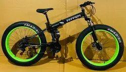 Black Ferrari Fat Tyre Foldable Cycle
