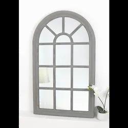 Gray Modern UPVC Arched Window