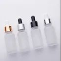 30 ml Clear Frosted Glass Bottle with Dropper Set