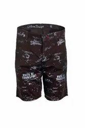 Printed Named Casual Shorts