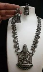 Maa Laxmi Design Necklace And Earrings