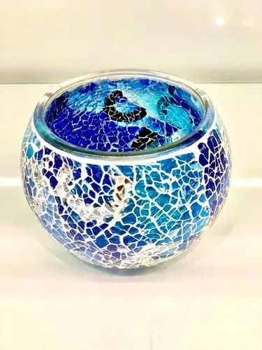 Round Unique Mosaic Glass Decorative Bowl Single Size 3 X 2 5 X 2 5 Inch Rs 294 Piece Id 23049750533