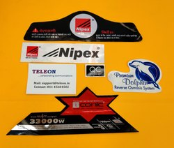 Screen Printing Adhesive Paper Custom Printed Sticker, For Branding, Packaging Type: Packet