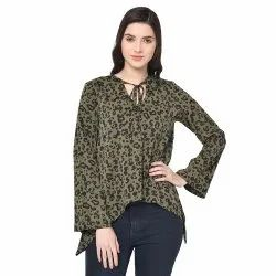 Polyester Casual Wear Girl Fancy Top, Size: Large