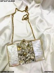 Designer Brass Mother of Pearl Clutches