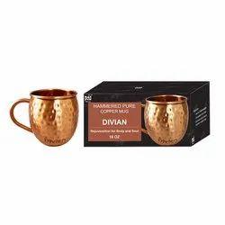 Divian Hammered Copper Mug