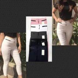 Cotton Plain Tummy Fit Cargo Pant, Size: L