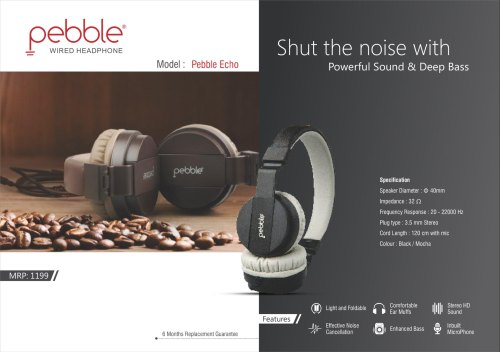 BRANDED Pebble Echo True Wireless Headphone