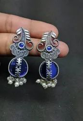 Diamond Pearls And Alloy  Earrings