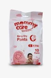 White Nonwoven Mommy Care Small Baby Dry Pants