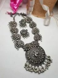 Oxidized  Long Necklace Set