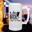 Frosted Printed Beer Mugs