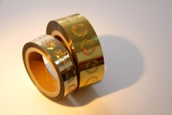 Golden Holographic Hot Stamping Foil