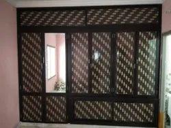 Brown Double Door Aluminium Cupboards
