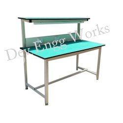 Light Green Mild Steel Inspection Table, Size: 1000 X600x1800 Mm