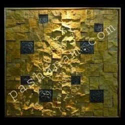 Etta Gold Yellow Rock Face Mosaic Tile, Thickness: 10 - 12 mm, Size: Large (12 Inch X 12 Inch)