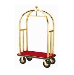 DOLPHY 1910 MM Luggage Trolley, For Hotel, Capacity: 200 Kg