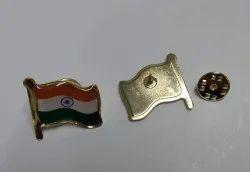 Flag Metal Badge