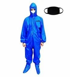 Washable PPE Kit with face mask - Blue
