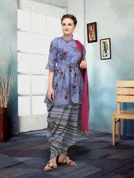 FENTON ENTERPRISE Cotton Punjabi Dress, Dry clean