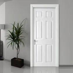 Polished White PVC Bathroom Door, Design/Pattern: Plain