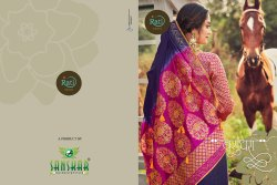 Vasundhara Party Wear Dola Silk Sarees With Sarvoski Stone Work