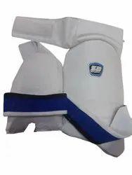 SB White,Blue Full Cricket Thigh Guards
