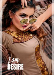 Kashish Sahiba Rayon Printed Designer Kurti With Bottom Catalog