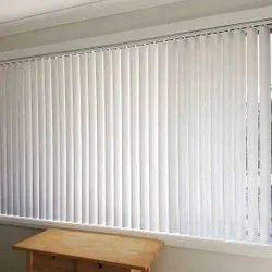 Plain White PVC Office vertical Blinds