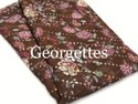 Georgette Embroidered With Digital print