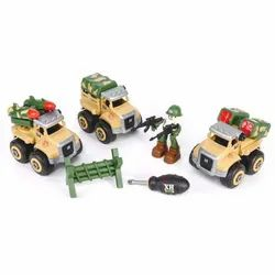 Friction Powered & Openable Parts Assemble Diassemble Military Missile Launcher Tools Truck