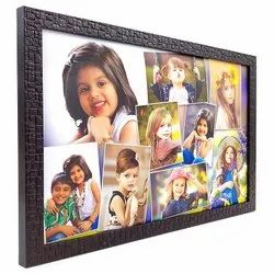 Brown Plastic Photo Frame, For Decoration, Size: 7x15 Inch
