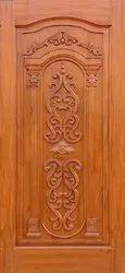 Interior Indian Teak Wood Door, Size: 6.5 X 3.5 Feet (l X B)
