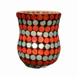 DC35046 Mosaic Glass Tealight Candle Holdar