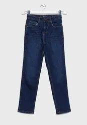 Casual Wear Stretchable Kids Modern Denim Jeans, Handwash