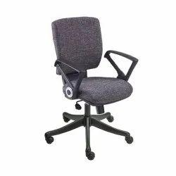 Leather Geeken Medium Back Office Chair, Black