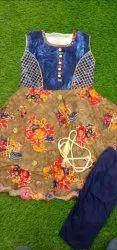 Multicolor Kids Designer Dress
