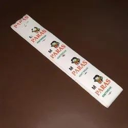 Chromo paper Rectangular Double Colour Printed Stickers, For Garments, Packaging Type: Packet