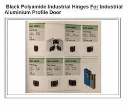 Black Polyamide Industrial Hinges For Industrial Aluminum Profile Door