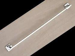 Chrome Finish Silver 24 Inch SS304 Towel Rod, For Bathroom