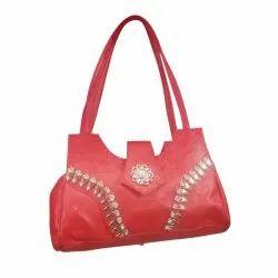 Faux Leather Regular Red Designer Ladies Purse, Size: Medium