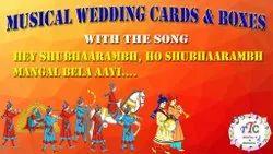 Customized Indian Wedding Cards And Boxes Musical Song Module Hey Shubhaarambh, Ho Shubhaarambh