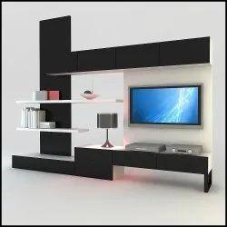 Plywood Bedroom Modern TV Unit
