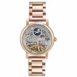 Rosegold Grand Complications Chronograph White Dial Gold Belt Watch, Size: 42