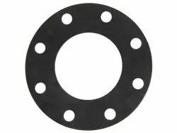 Black Nitrile Rubber Flange Gasket, 30~90 Shore A, Thickness: 1mm