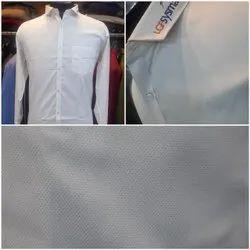Checks Collar Neck White Full Sleeves Shirts, Machine wash