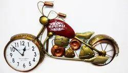 Modern Metal Bike Wall Clock, For Decoration