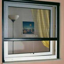4 Feet White Mosquito Net Aluminium Sliding Window